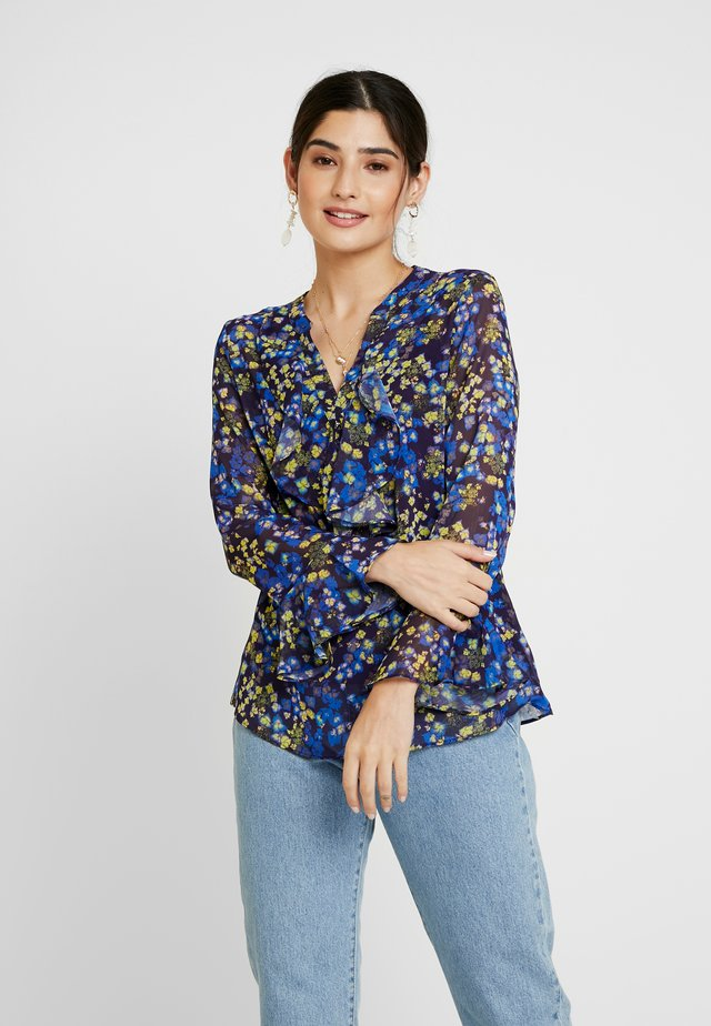 COSMIC DITZY RUFFLE BLOUSE - Blouse - blue