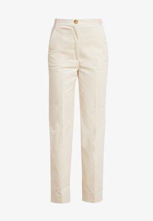 FLARED PANTS - Kalhoty - sand stone