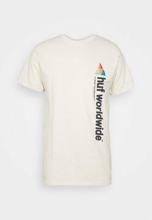 PEAK SPORTIE TEE - T-shirts med print - unbleached
