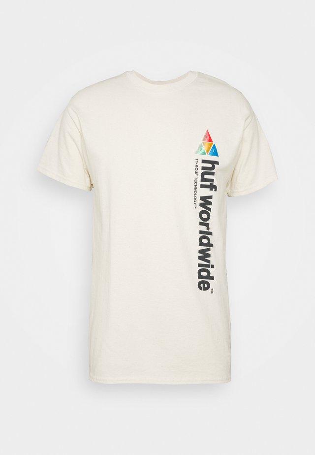 PEAK SPORTIE TEE - Print T-shirt - unbleached