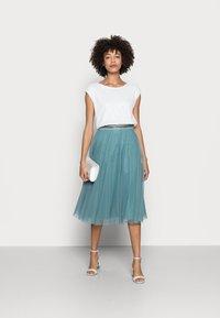 Esprit Collection - SKIRT - Spódnica trapezowa - dark turquoise - 1