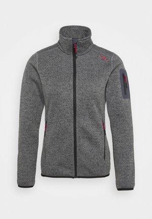 WOMAN JACKET - Fleece jacket - nero/grey