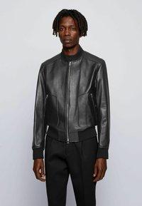 BOSS - NIPET - Leather jacket - black - 0