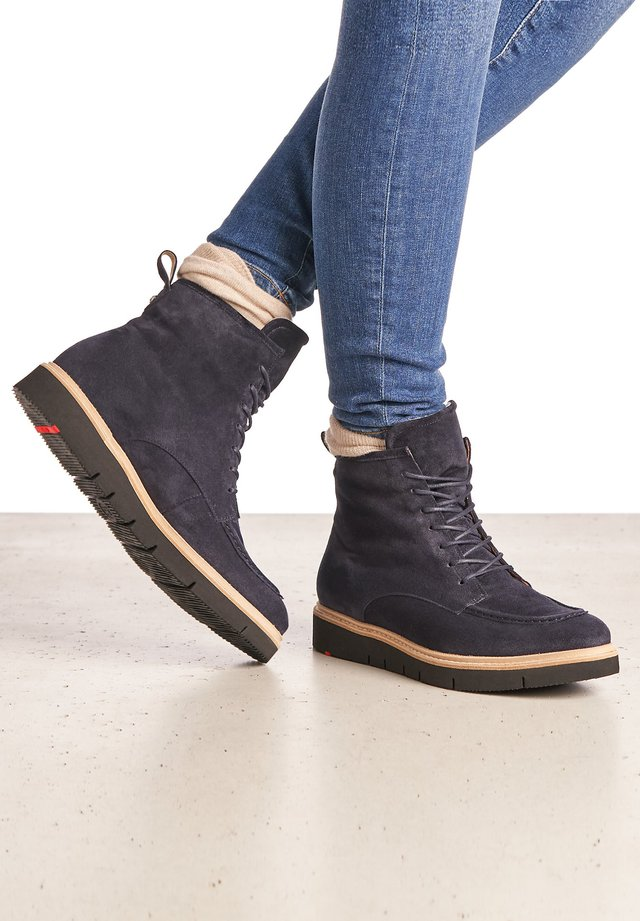 Lace-up ankle boots - blau