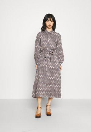 ONLALMA LIFE EMILY SHIRT DRESS - Maxi dress - indian teal/edgy