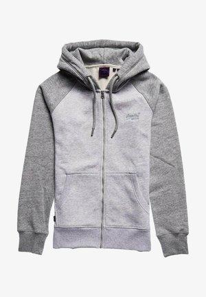 Zip-up sweatshirt - gris mélange