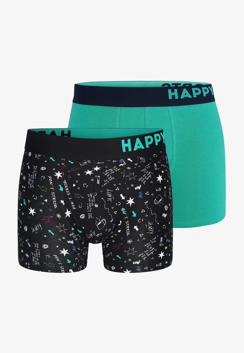 Happy Shorts - 2 PACK - Underkläder - black, teal