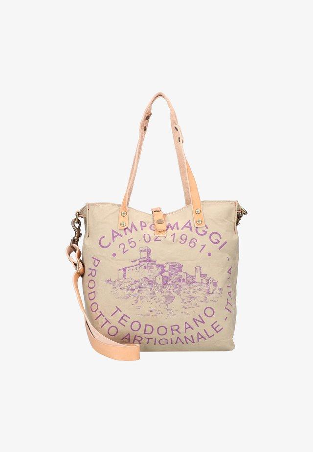 Handbag - beige-prugna