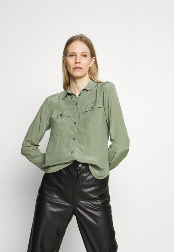 MONA - Button-down blouse - light green