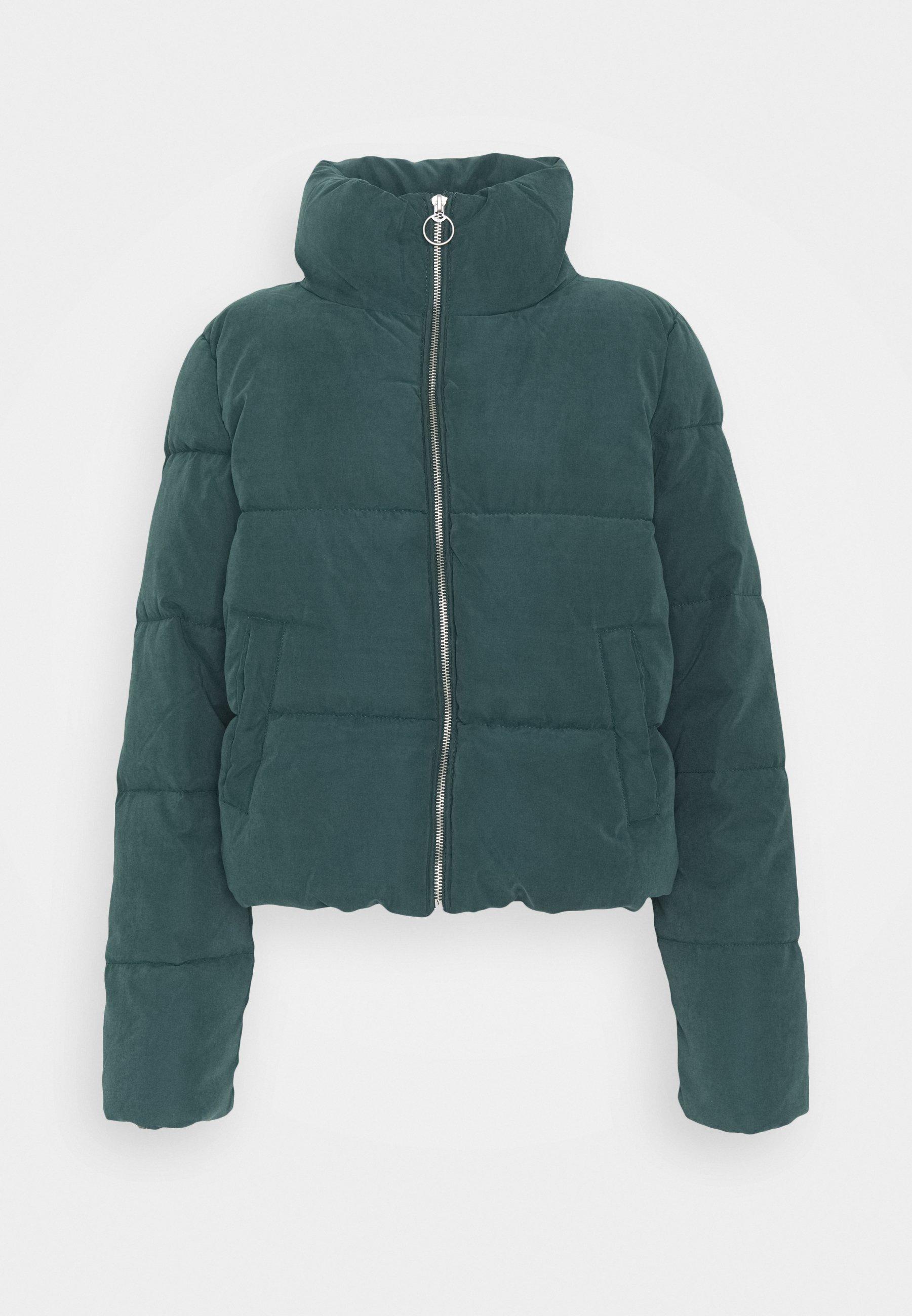 ONLDINA SHORT QUILTED PUFFER - Winter jacket - green gables