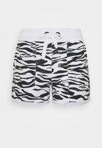 ZEBRA PRINT ROLL CUFF SHORT INSEAM - Pantalón corto de deporte - white