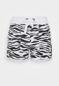 DKNY - ZEBRA PRINT ROLL CUFF SHORT INSEAM - Sports shorts - white - 3