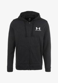 TERRY  - Zip-up sweatshirt - black