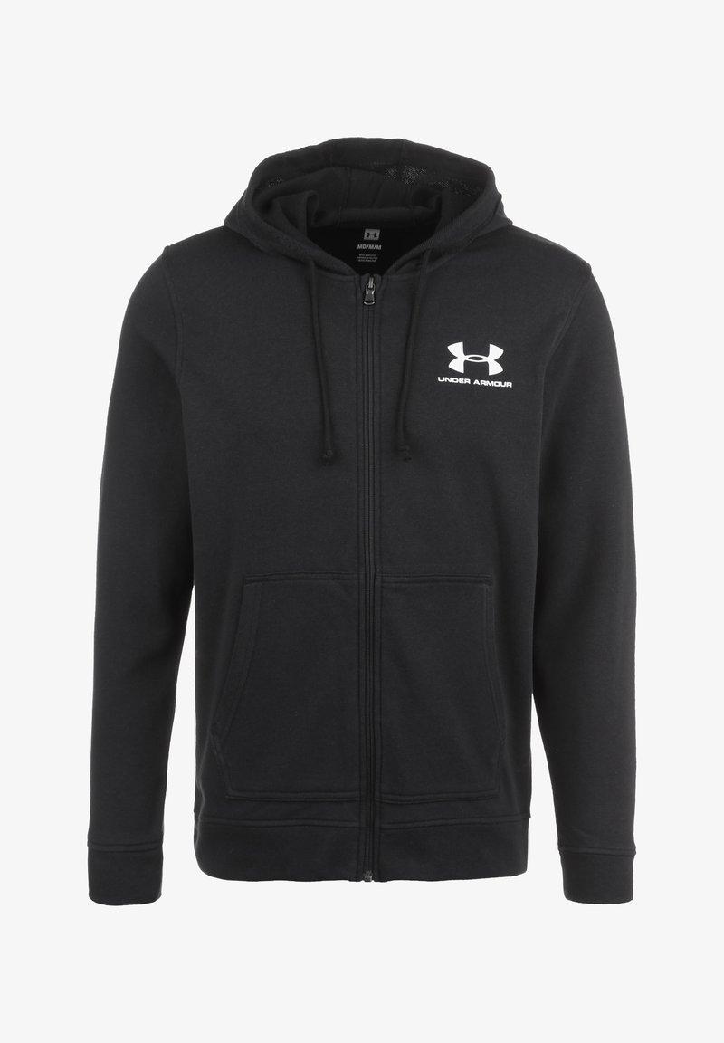 Under Armour - TERRY  - veste en sweat zippée - black
