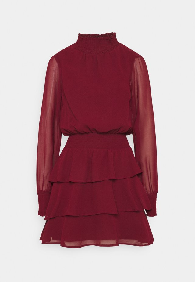 ALEXA TURTLNECK DRESS EXCLUSIVE - Freizeitkleid - wine