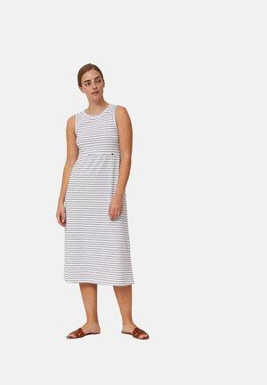 Jersey dress - white blue stripe