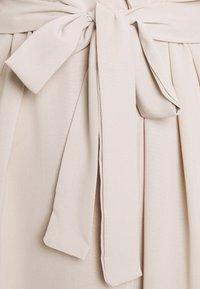 Missguided - TIE BELT COLLAR SKATER DRESS - Kjole - stone - 2