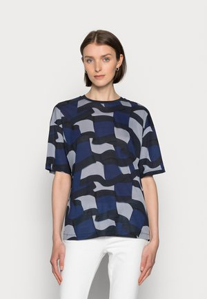 ICON RELAXED GRAPHIC - T-shirt con stampa - blue