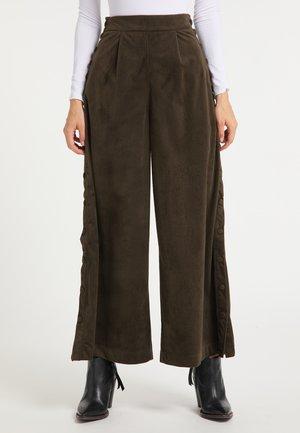 Spodnie materiałowe - oliv