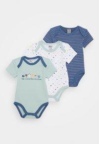 Jacky Baby - KURZARM 3 PACK - Body - blue/white - 0