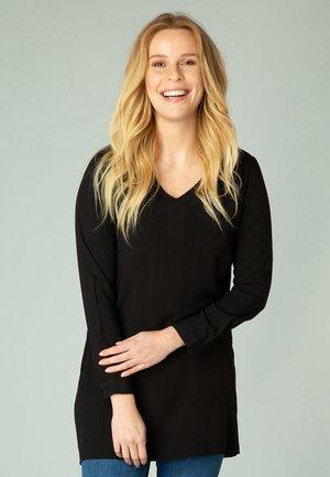 NATALIA - Long sleeved top - black