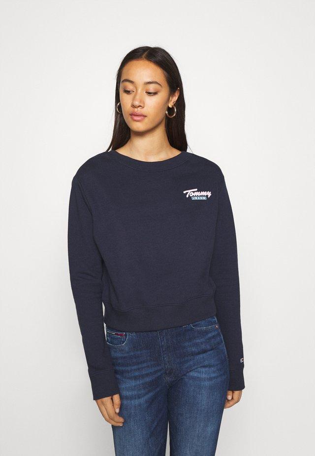 BRANDED BACK CREW - Sweatshirt - twilight navy