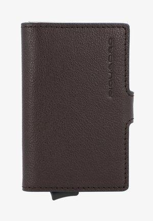 BLUE SQUARE LEDER - Business card holder - dark brown