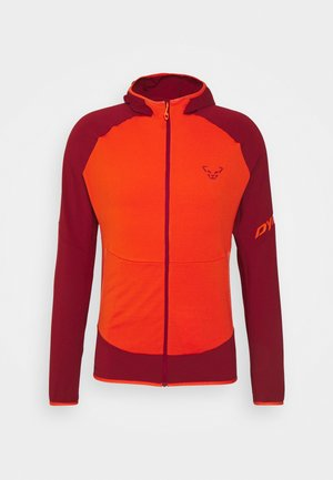 TRANSALPER LIGHT HOODY - Fleece jacket - red dahlia