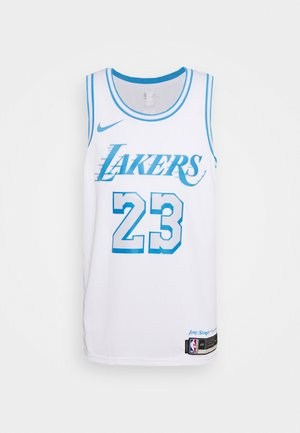 NBA LOS ANGELES LAKERS LEBRON JAMES CITY EDITION SWINGMAN  - Squadra - white/coast