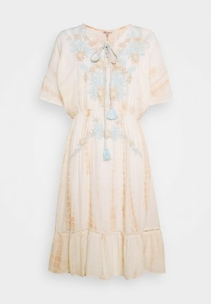 KIMONO EMBROIDERY - Day dress - beige