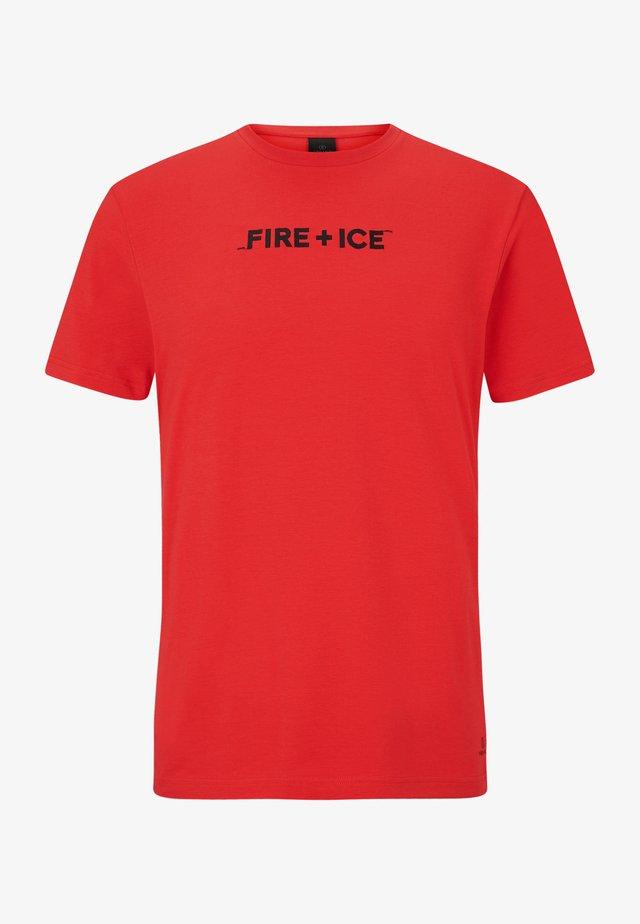 MATTEO - T-shirt imprimé - rot