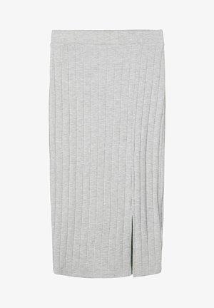 Pencil skirt - light grey melange