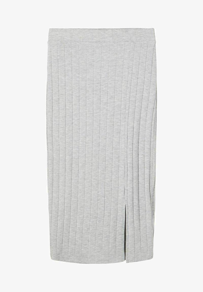 LMTD - Pencil skirt - light grey melange