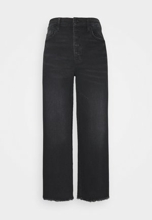 WIDE LEG CROP - Straight leg jeans - black blaze