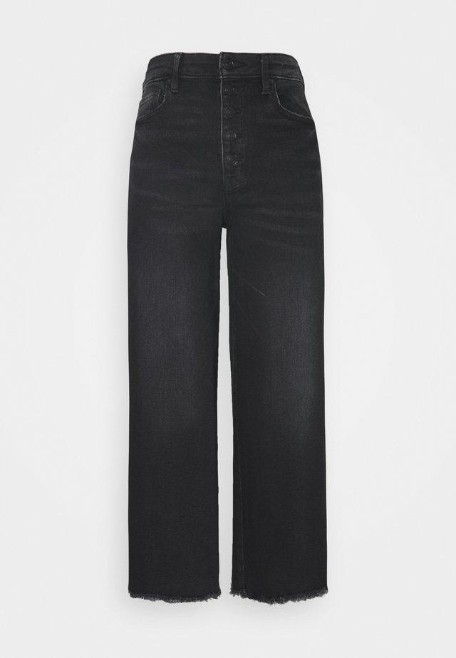 WIDE LEG CROP - Straight leg jeans - black blaze