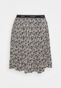 Calvin Klein - SHORT MICRO PLEAT SKIRT - Mini skirt - black/white - 0