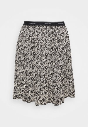 SHORT MICRO PLEAT SKIRT - Mini skirt - black/white
