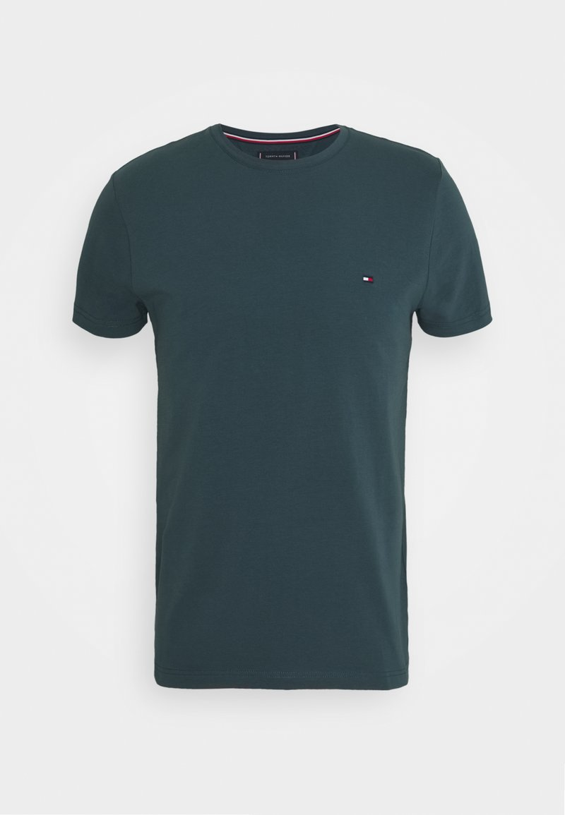 Tommy Hilfiger - STRETCH SLIM FIT TEE - T-shirt - bas - mystic lake