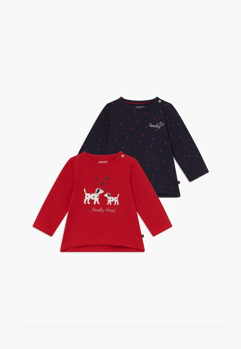 Staccato - 2 PACK - Long sleeved top - red/dark blue