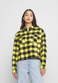 Tommy Jeans - GINGHAM CHECK  - Button-down blouse - star fruit yellow/black - 0