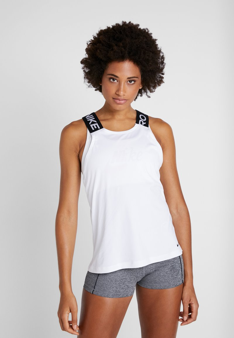 Nike Performance - DRY ELASTIKA TANK - Funktionsshirt - white/black