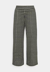 IHKATE CHECKY WIDE - Trousers - vetiver