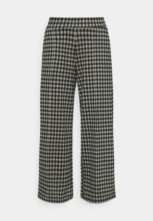 IHKATE CHECKY WIDE - Kalhoty - vetiver