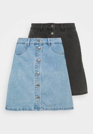 ONLFARRAH SKIRT 2 PACK - Jeansrok - light blue denim/black
