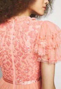 Needle & Thread - SHIRLEY RIBBON BODICE ANKLE MAXI DRESS - Festklänning - coral - 5