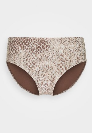 SERPENTINE WIDE SIDE RETRO - Bikini bottoms - chocolate