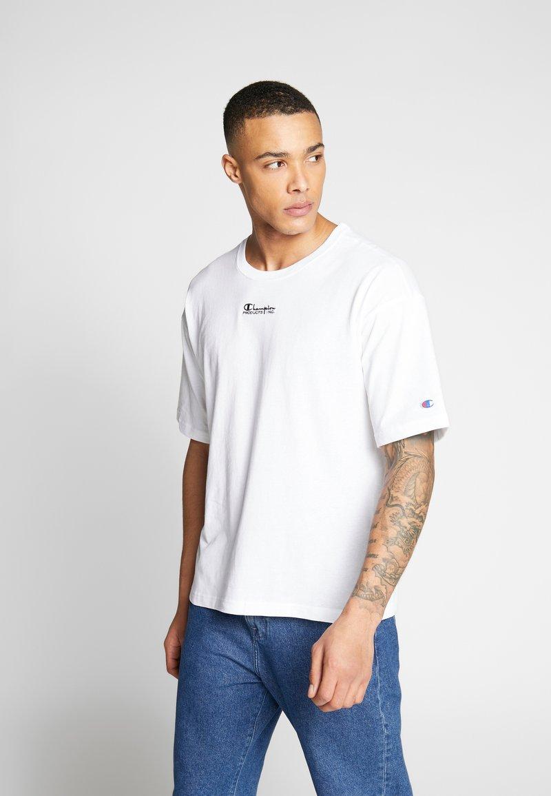 Champion Reverse Weave - CREWNECK - T-shirt con stampa - white