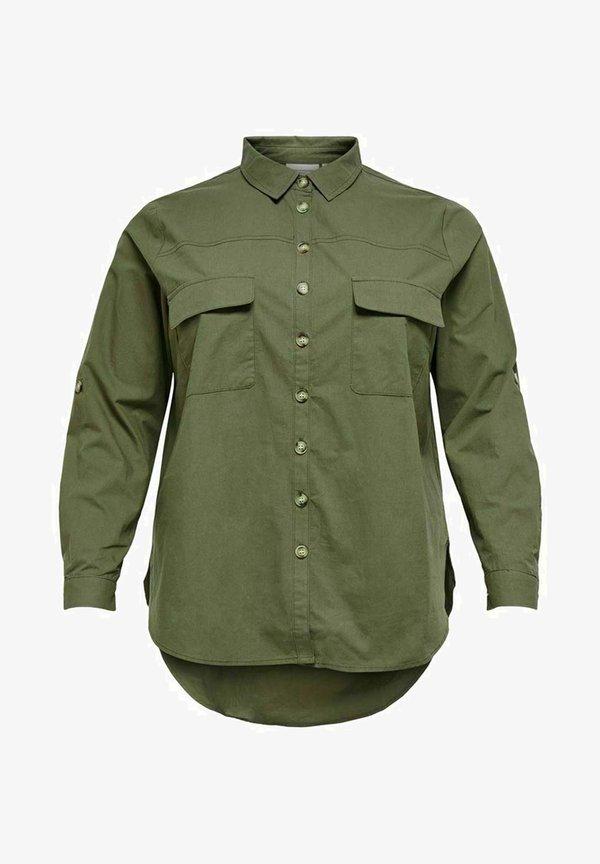 ONLY Carmakoma CARCORINNE - Koszula - kalamata/khaki PCWN