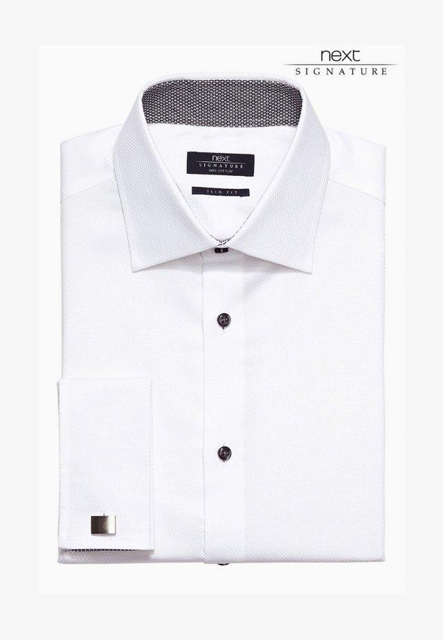 SIGNATURE WEAVE SHIRT - Formální košile - white