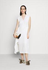3.1 Phillip Lim - VNECK MUSHROOM PLEATED DRESS - Denní šaty - white - 1